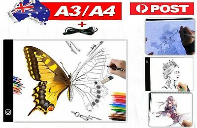 Cheap! LED Drawing Pad Table Box Bright Tattoo Stencil Board Light Tracing A4/A3