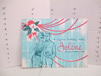 JOLENE SHOES Christmas holiday 1960s store display sign women's clothing