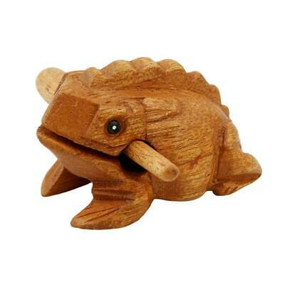 Natural Large Wood Frog Guiro Rasp High Pitch Tone Instrument Block Loud HO3