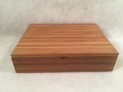 Tea of Life Wooden Box w/6 Inner Sections Hinged Lid
