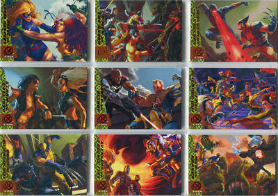 X-Men 2018 Fleer Ultra Greatest Battles Complete 10 Card Chase Set