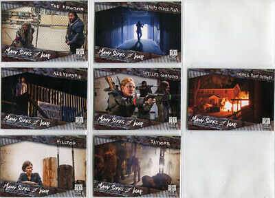 Walking Dead Season 8 Many Sides of War Complete 7 Card Chase Set MSW-1 to MSW-7