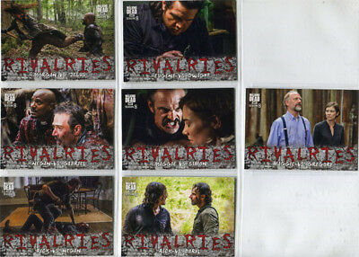 Walking Dead Season 8 Rivalries Complete 7 Card Chase Set R-1 to R-7