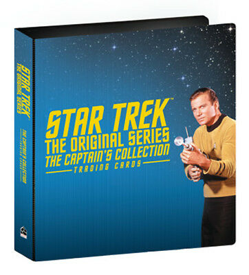 Star Trek TOS Captain's Collection Trading Card Binder Album with Promo