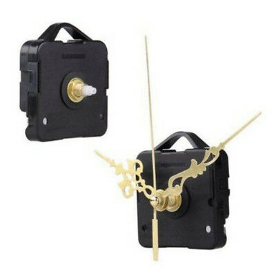 Clock Quartz Movement Mechanism Gold Hands DIY Repair Replacement Parts Set FS