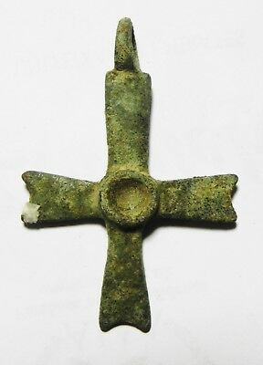 Zurqieh - As8597- Large Ancient Byzantine Bronze Cross. 600 A.d - Jordan