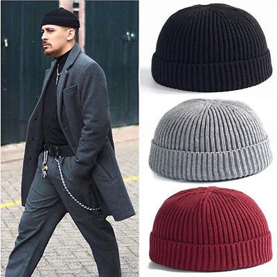 Unisex Men&Women Beanie Hat Warm Ribbed Winter Turn Ski Fisherman Docker Hat/SHX