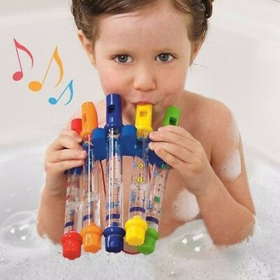 Kids Children Bathing Shower Bath Tub Water Flute Whistles Music Toy Multicolour