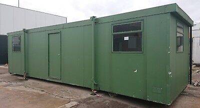 Portable Cabin 32ft x 10ft Site Office - Unit - Jack Leg Cabin