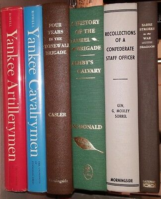 Group of 6 Civil War Books in Very Good Shape--All Hardbound--For One Price of $