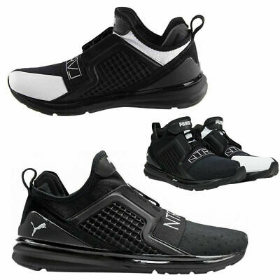 8e6e602b461 Puma x Staple Ignite Limitless Lace Up Mens Trainers Textile Black 363202  01 U28
