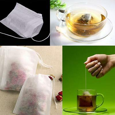 White Non-woven String Heat Seal Filter Paper Herb Loose Tea Empty Bag AN