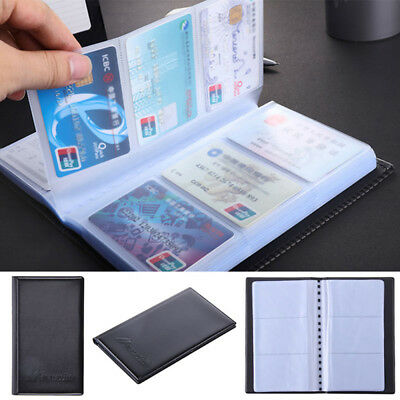 New Business Card Case 120 Sheets Leather Storage Clip Business Card Holder 9L