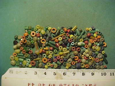 over 200 small Genuine ancient  Roman beads circa 100-400 AD