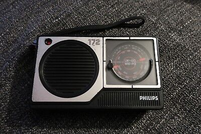 Vintage Philips 172 Portable 2 Band Mw Lw Transistor Radio Fully Working