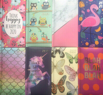 2020 Diary Padded Hardback Cover Week to View Pocket Planner Handy Small Size