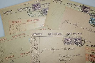 Small Collection of 10 Upper Silesia Cards & 1 Cover to Germany