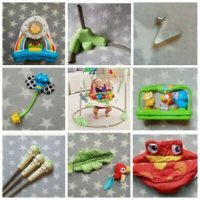Old Style Rainforest Jumperoo Spare Parts - Bar Pole Base Legs Bars Poles Hinged
