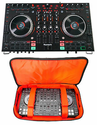 """Numark NS6II 4-Channel DJ Controller w/ 2"""" Color LCD Display + Travel Carry Case"""