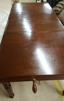 Vintage Reproduction Dark Mahogany Hand Crank 8ft Extending Dining Table - A27