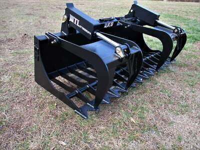 "MTL Attachments RK5 72"" Skid Steer Rock Grapple Bucket Twin Cylinder -$169 ship"