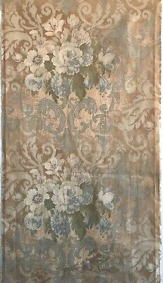 Beautiful Late 19th C. French Printed Floral Cotton Fabric  (2510)