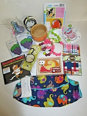 Baby Accessory Lot 15 items Dr Brown Chew Beads CD Snuggybaby Lillebaby Eco Blk