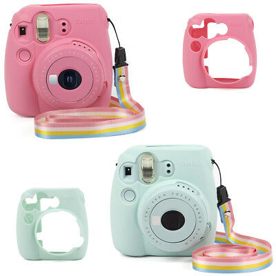 For Fujifilm Instax Mini 9 Film Camera Soft Silicone Bag Shell Case Carry Cover