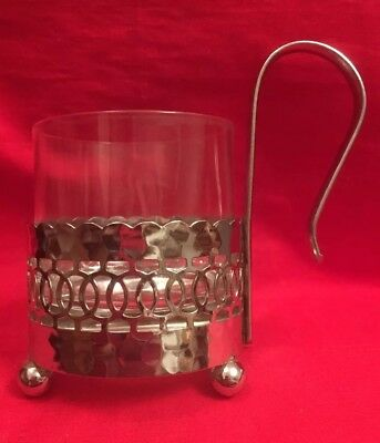 Vintage Glass & Chromium Plated Toddy Cup