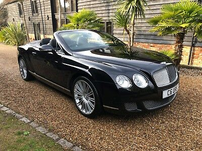 2009 Bentley Gtc Speed Convertible Onyx Black/black With Only 48K Miles Fbsh