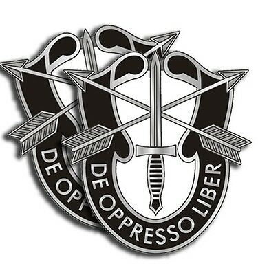 "Army Special Forces 4 Stickers  -  Military Dye Cut Decal - 4 Pack 2"" tall"