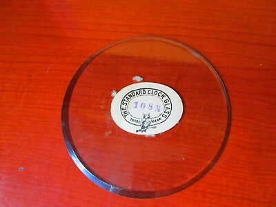 NOS Round, Flat Beveled Replacement Clock Glass (300A23)