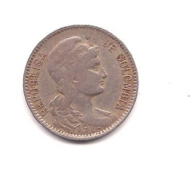 1912-H Columbia Inflationary Coinage 5 Pesos -- Rarely Seen !!