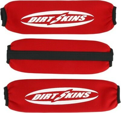 Schampa Dirtskins Stock Shock Covers Red Honda TRX450R TRX450ER Electric DS20-3