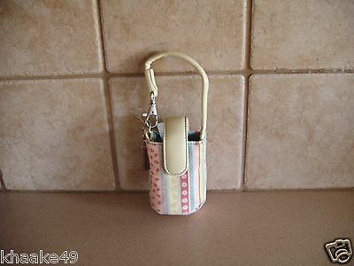 Longaberger Spring Parade Cell Phone Wristlet Clip-On Carry Case Nip * Free Ship