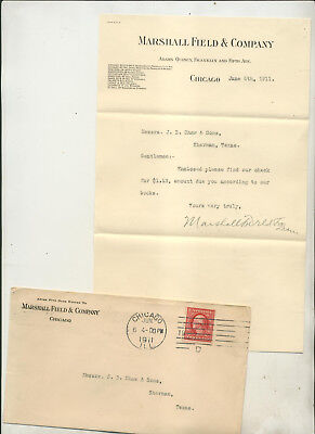 1911 Marshall Field & Company Chicago Letterhead & Cover