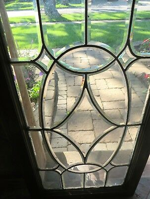Large American All Beveled Glass Window c1910s