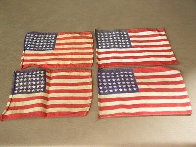 Original WW2 salty Invasion type 48 star armband size cotton US flags, 1 each