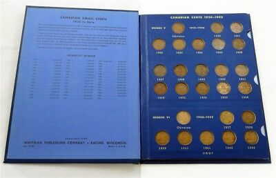 Complete Deluxe Album of Canadian Small Cents 1920-1968 - Inc. 1922, 1923 & 1925