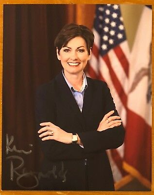 Kim Reynolds, 100% Authentic Autographed Photo ! Iowa Governor, Awesome !