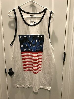 a8856ecd99481 Men s Urban Pipeline American Flag Palm Tree Graphic Tank Top Size Large -  NWT