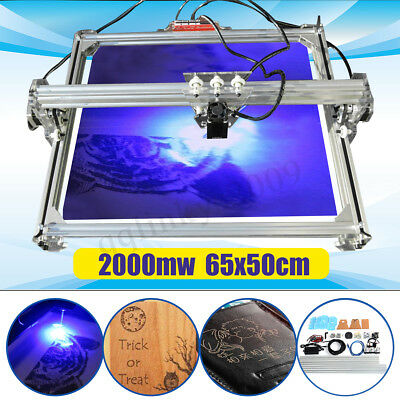 AUS 2000MW 65*50cm DIY Laser Engraving Carving Engraver Logo Carver Printer Tool