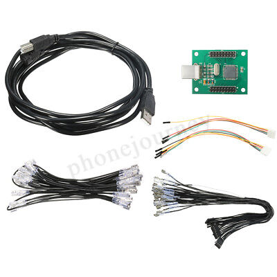 Xin-Mo 2 Player Control USB Arcade Encoder Cable Wiring Kit For MAME PC