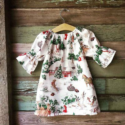 Toddler Baby Girls Kids Winter Princess Christmas Dress Party Dresses Outfit New