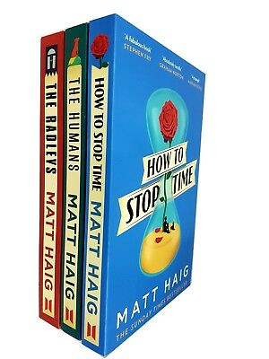 How to stop time Humans and Radleys Matt Haig 3 Books collection Set BRAND NEW