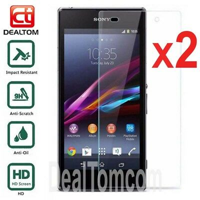 2Pcs 9H Tempered Glass Screen Protector Film For Sony Xperia Z Ultra XL39h C6833