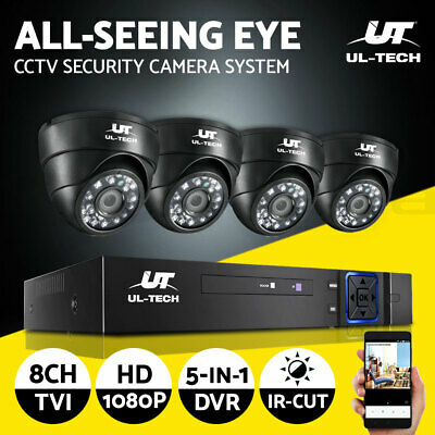 UL-tech CCTV Camera Security System Kit 8CH DVR 1080P Outdoor IP Cameras 2MP