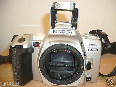 Minolta Dynax 404Si 35Mm Film Slr Camera Body~Shooting Modes~Built In Flash 8M12