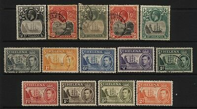 St Helena Collection 14 KGV / KGVI Stamps Used