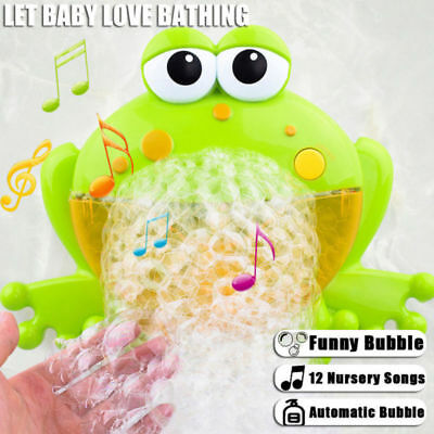 Fog Bubble Maker Automated Spout Bubble Machine Bath Shower Kids Fun Toys